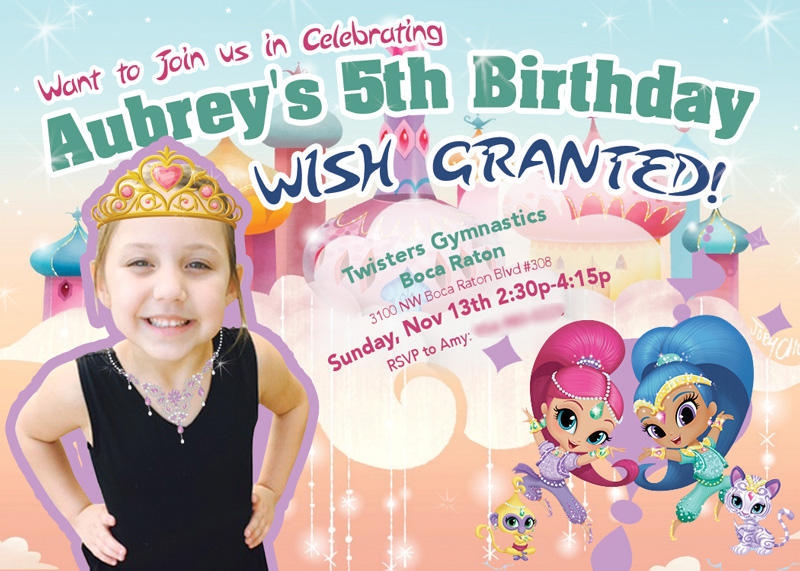 Shimmer N Shine Birthday