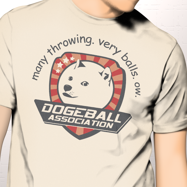 funny doge shirt dodgeball many throwing