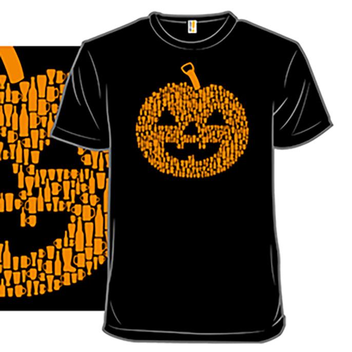 halloween beer shirt jackolantern tshirt