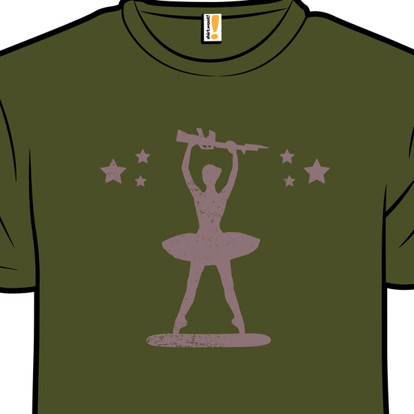 Gi joe military ballerina dancer shirt