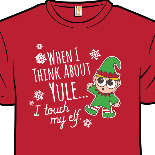 elf funny christmas xmas shirt